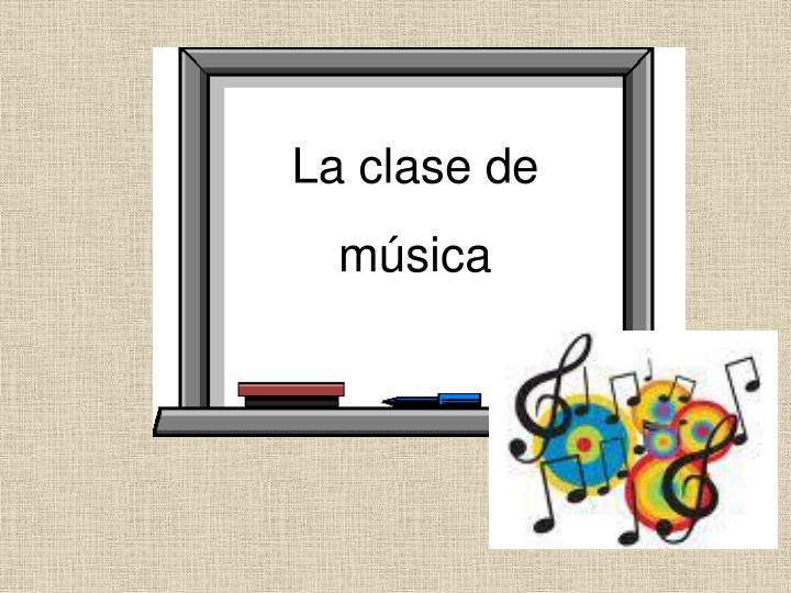 La clase de música
