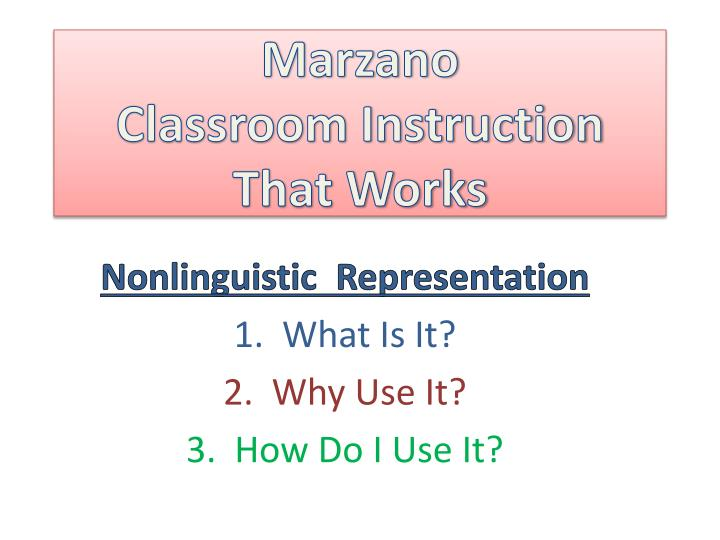 Marzano classroom instruction that works