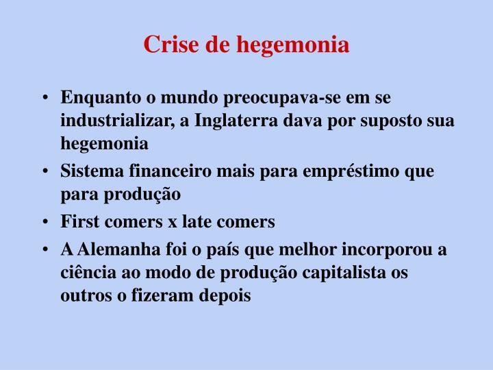 Crise de hegemonia