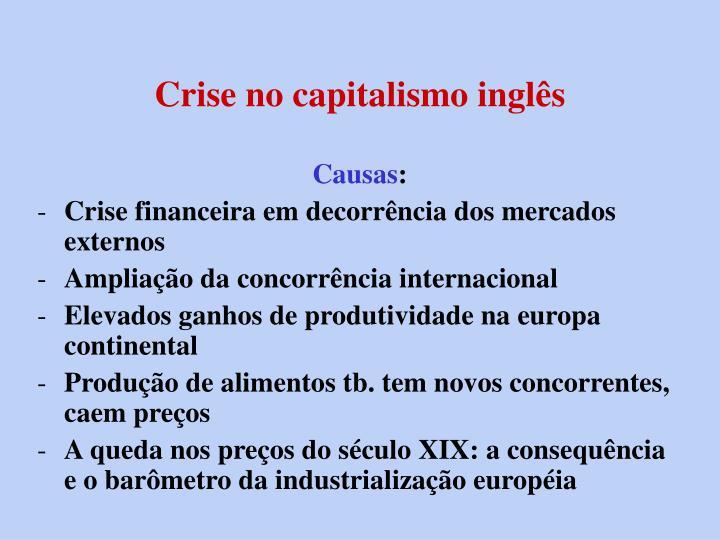 Crise no capitalismo inglês