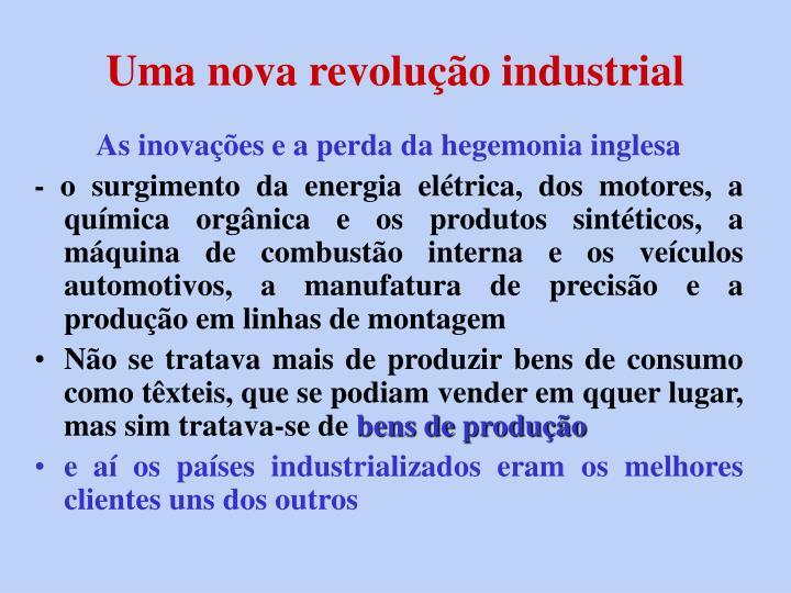 Uma nova revolução industrial