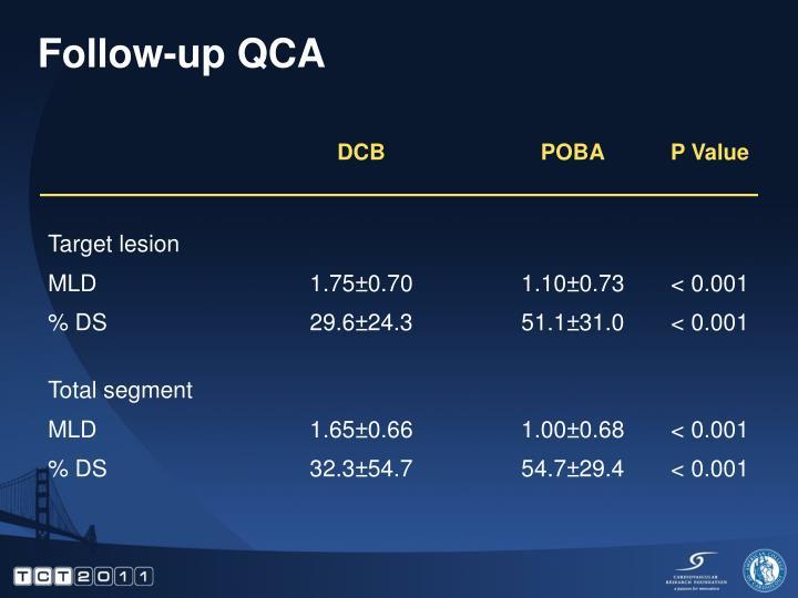 Follow-up QCA