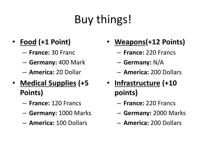 Buy things!