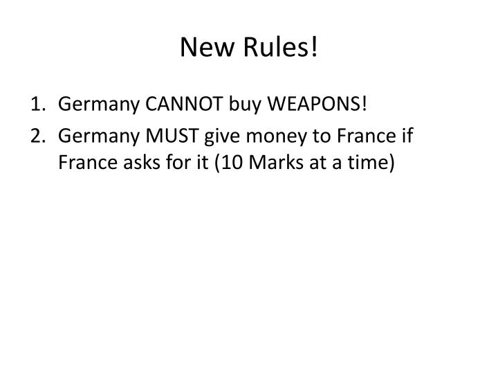New Rules!