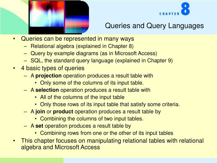 Queries and Query Languages