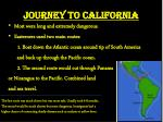 journey to california