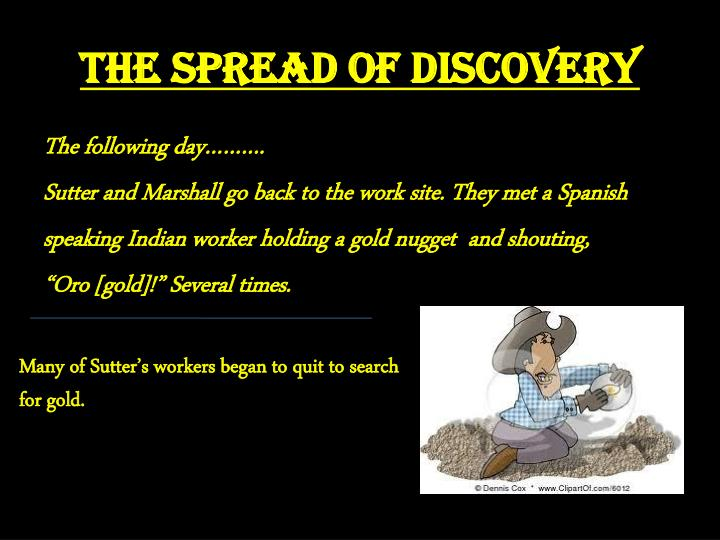 The Spread of Discovery