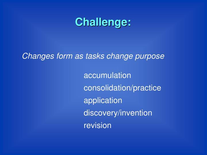 Challenge:
