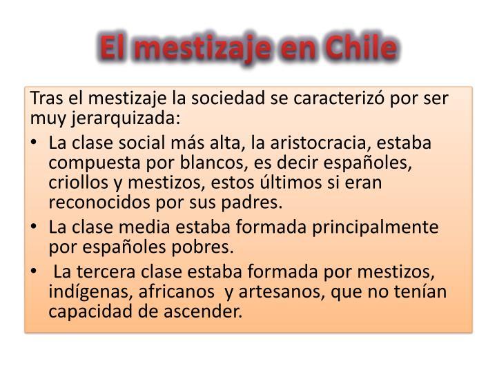 El mestizaje en Chile