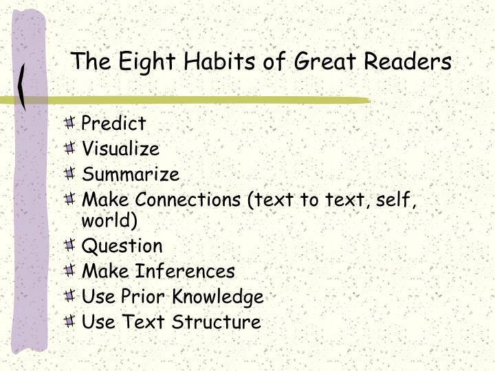 The Eight Habits of Great Readers