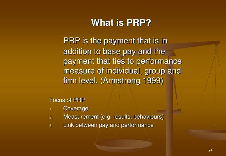 What is PRP?