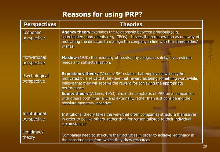 Reasons for using PRP?