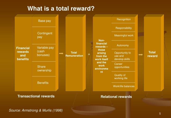 What is a total reward?