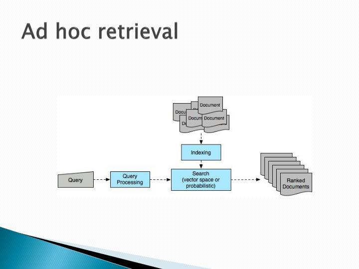 Ad hoc retrieval