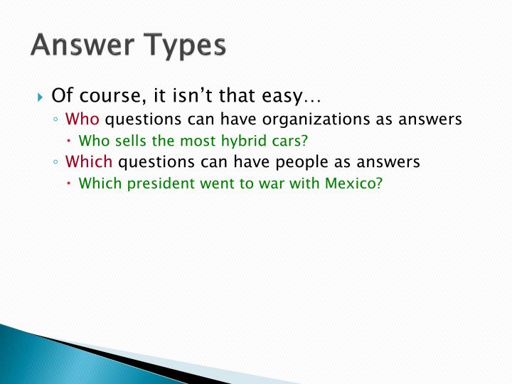 Answer Types