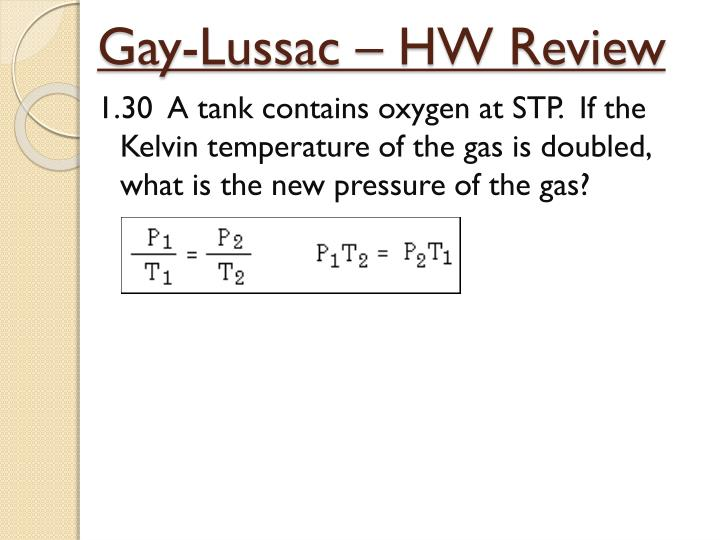 Gay lussacs experiments