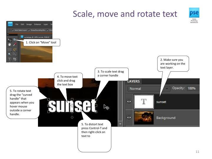 Scale, move