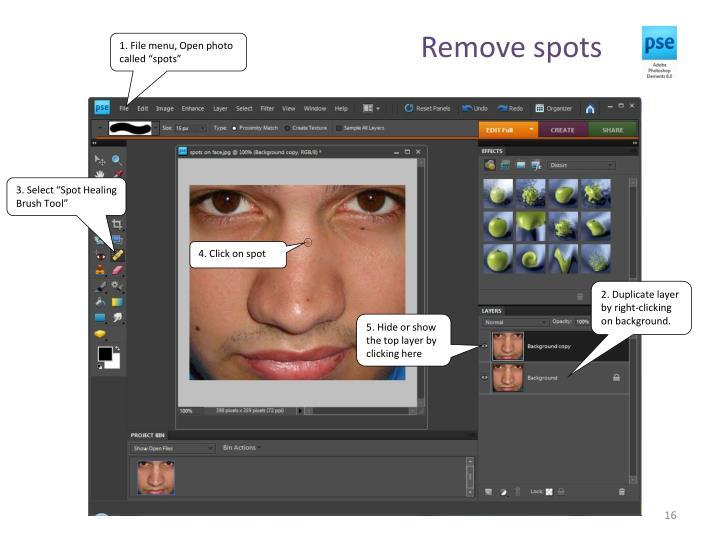 Remove spots