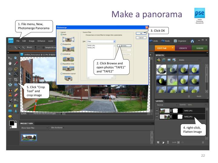 Make a panorama
