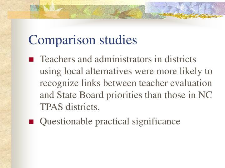 Comparison studies