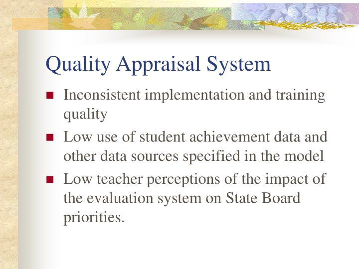 Quality Appraisal System