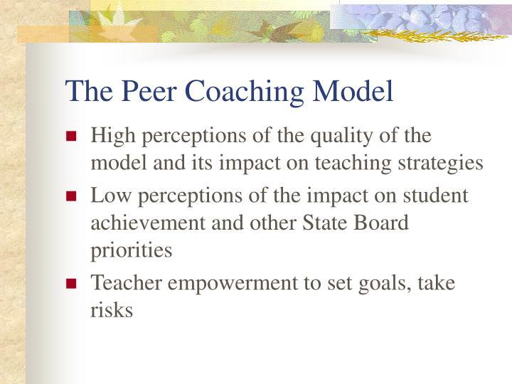 The Peer Coaching Model