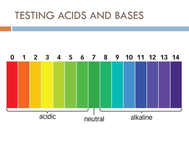 TESTING ACIDS AND BASES