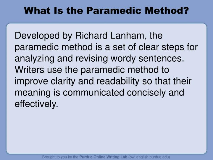 What Is the Paramedic Method?