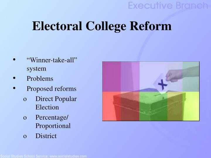 Electoral College Reform