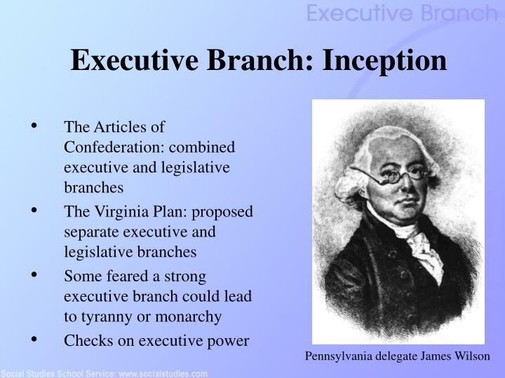 Executive Branch: Inception