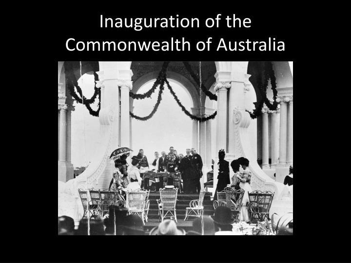 Inauguration of the