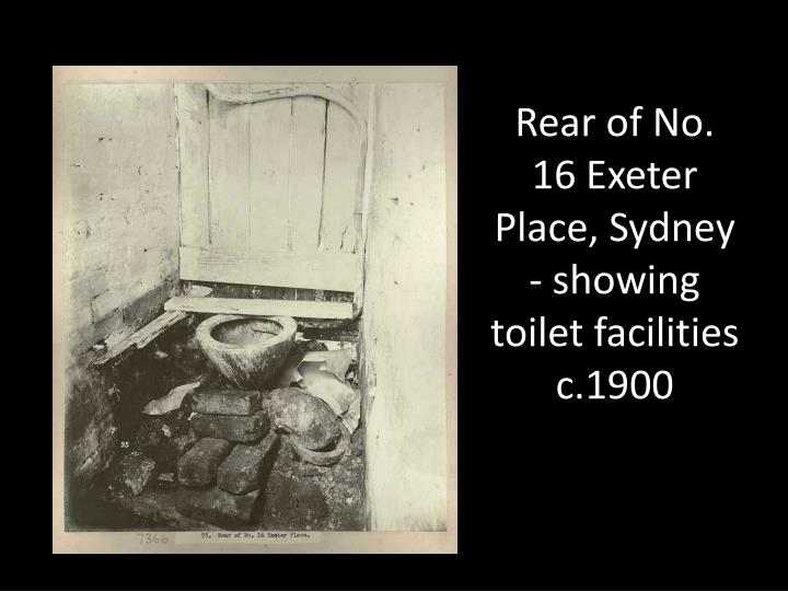 Rear of No. 16 Exeter Place, Sydney - showing toilet facilities c.1900
