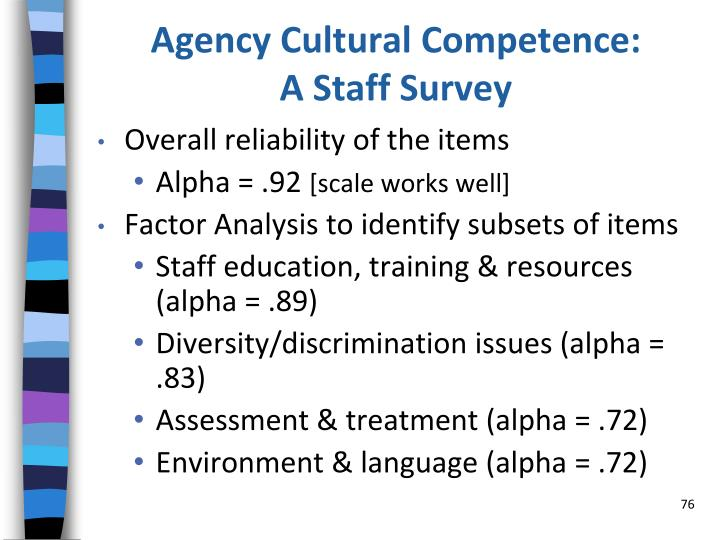 Agency Cultural Competence: