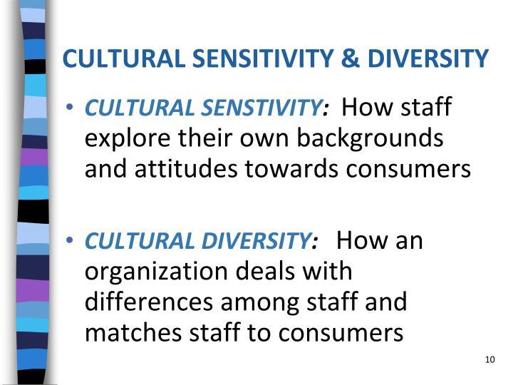 CULTURAL SENSITIVITY & DIVERSITY