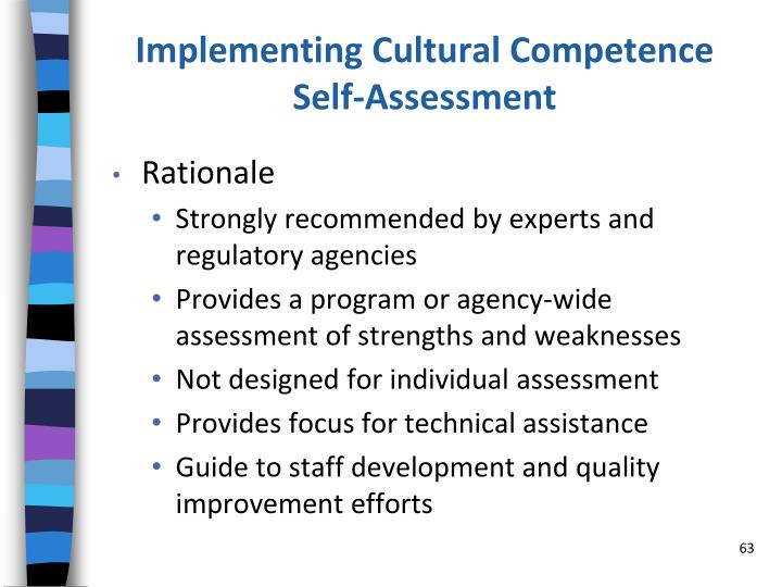 Implementing Cultural Competence