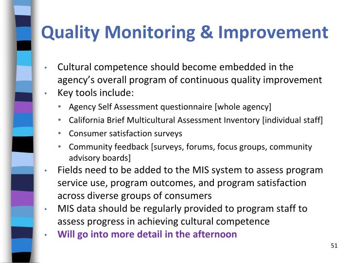 Quality Monitoring & Improvement