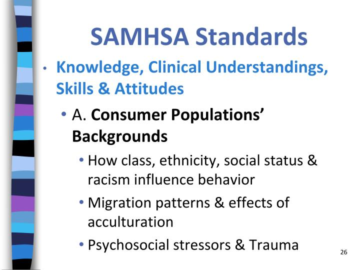 SAMHSA Standards