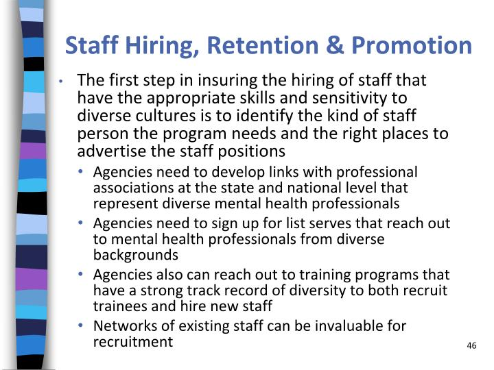 Staff Hiring, Retention & Promotion