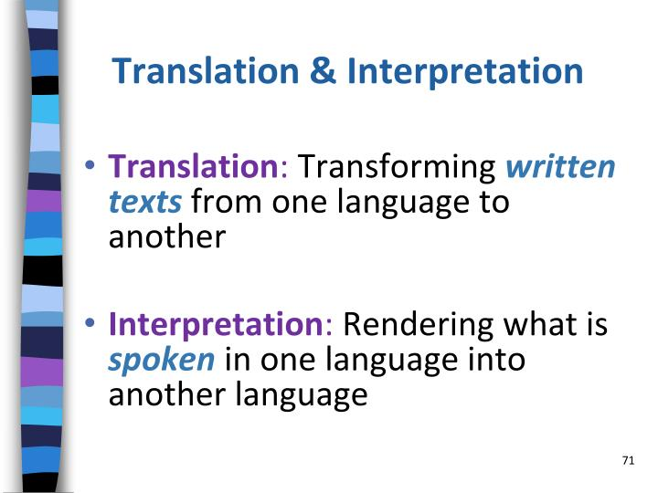 Translation & Interpretation