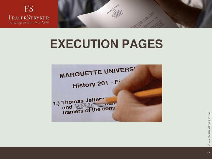 EXECUTION PAGES