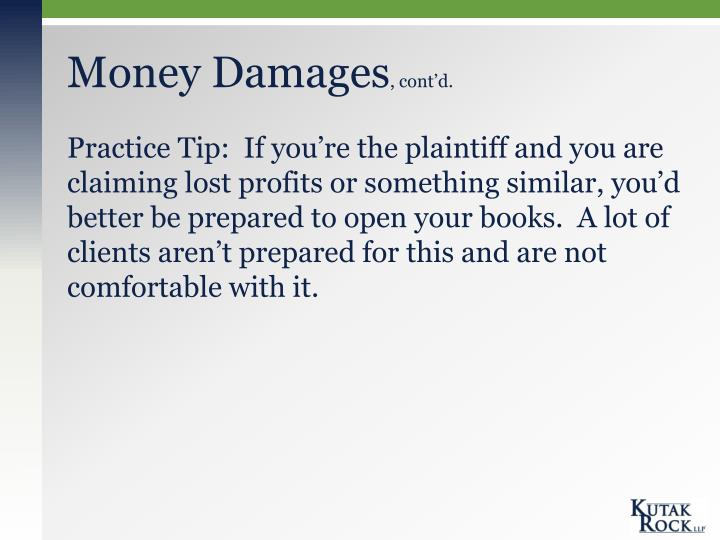 Money Damages