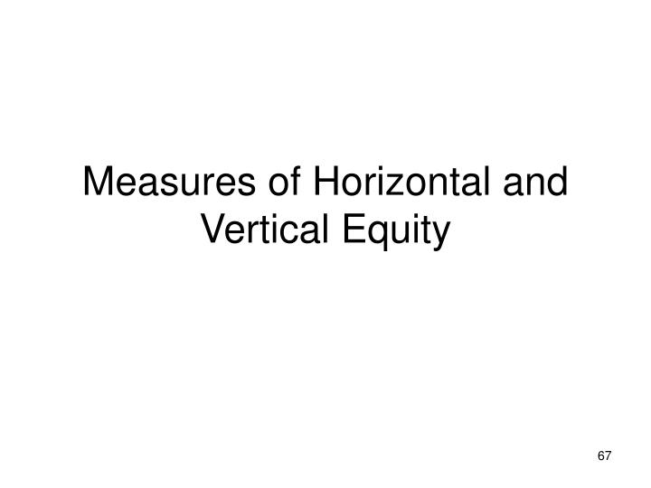 Measures of Horizontal and Vertical Equity