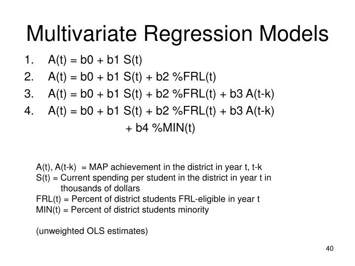 Multivariate Regression Models