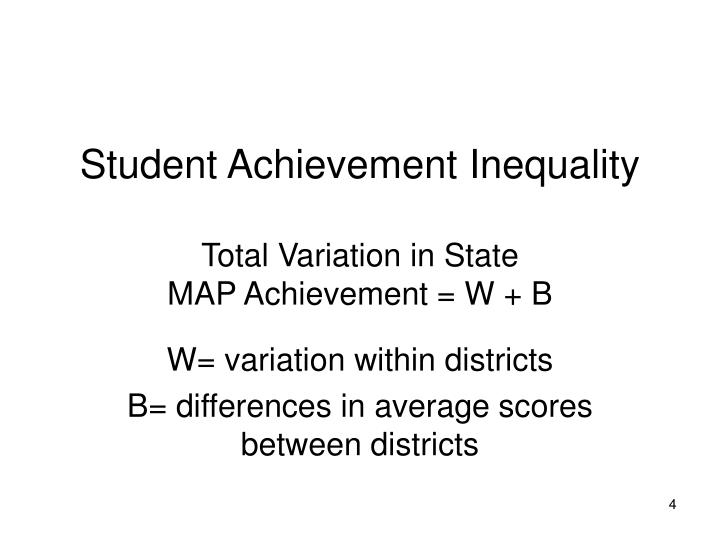 Student Achievement Inequality