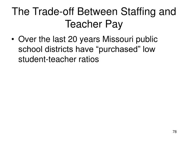 The Trade-off Between Staffing and Teacher Pay