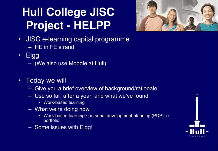 Hull college jisc project helpp