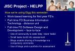 jisc project helpp
