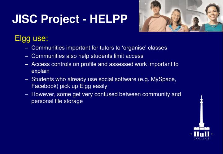 JISC Project - HELPP
