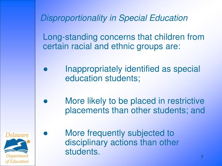 Disproportionality in Special Education