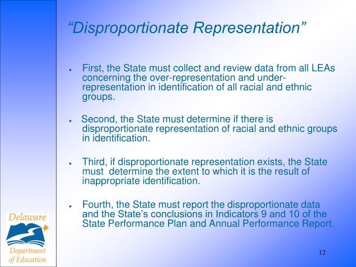 """Disproportionate Representation"""